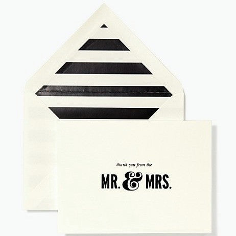 thank you from the mr. & mrs. card set kate spade new york