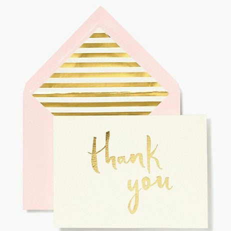 paint brush thank you card set kate spade new york