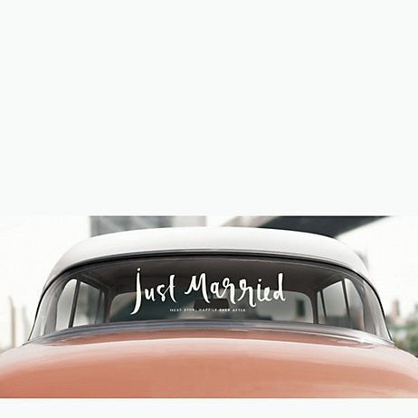 """just married"" decal kate spade new york"