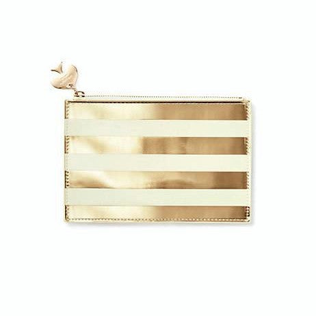gold stripe pencil pouch kate spade new york