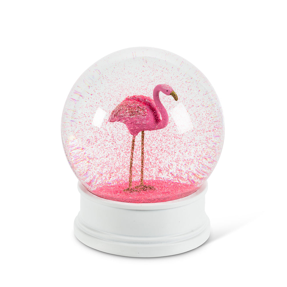 flamingo water globe