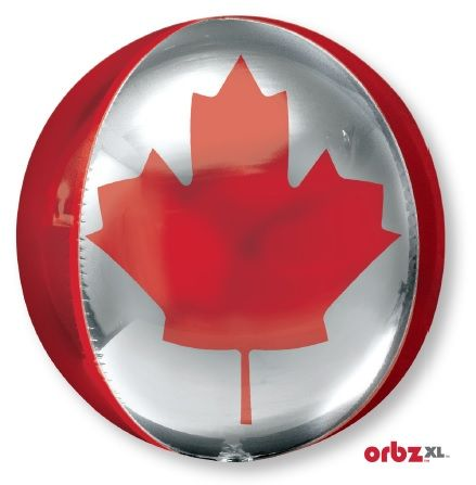 "15"" orbz canadian flag balloon"