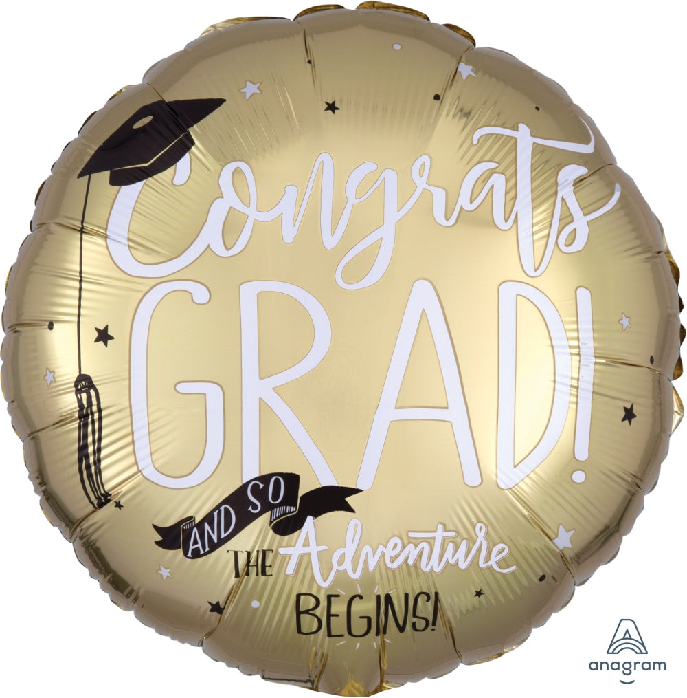 "17"" and so the adventure begins grad balloon"