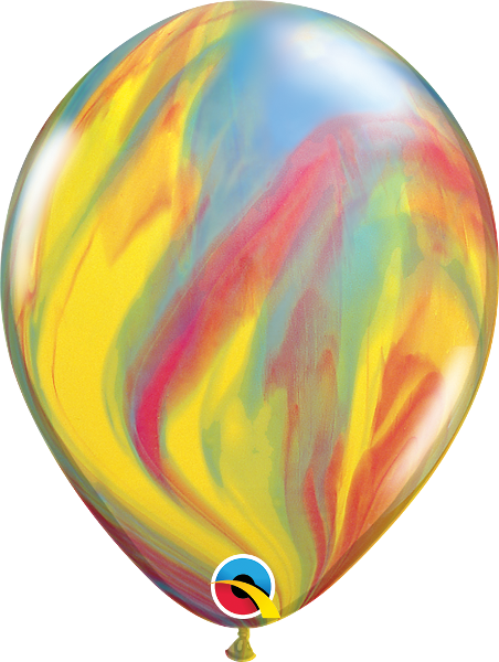"11"" marbled latex balloons (set of 10) **premium qualatex"