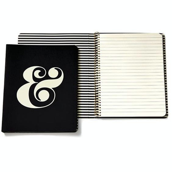 ampersand spiral notebook kate spade new york