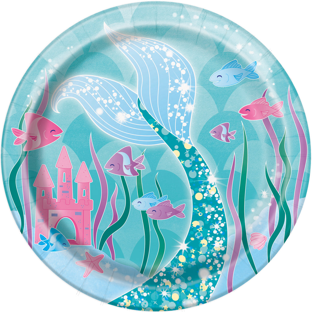 mermaid dinnerware