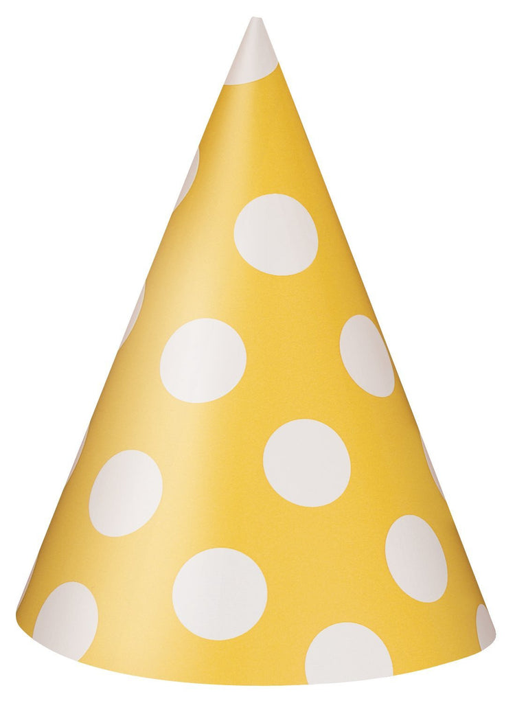 polka dot party hats