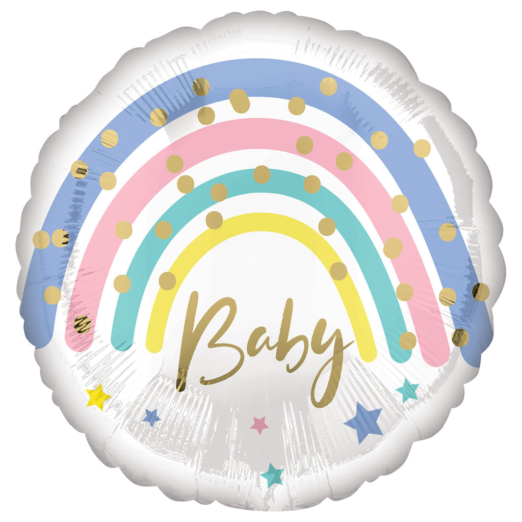 "18"" pastel rainbow baby balloon"