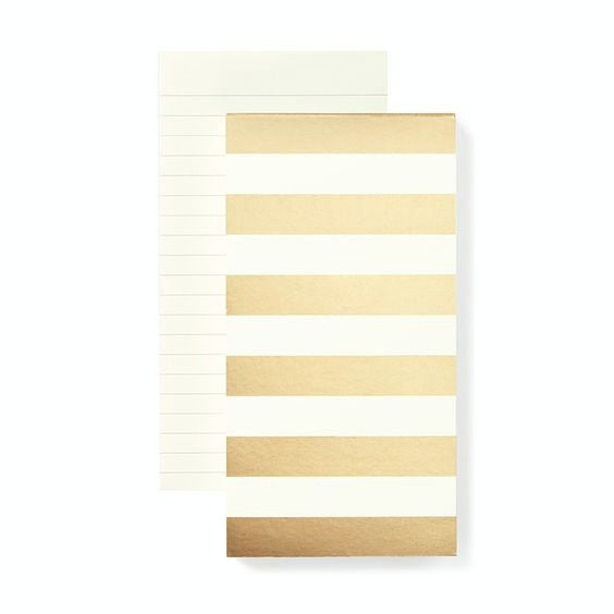 gold stripe large notepad kate spade new york