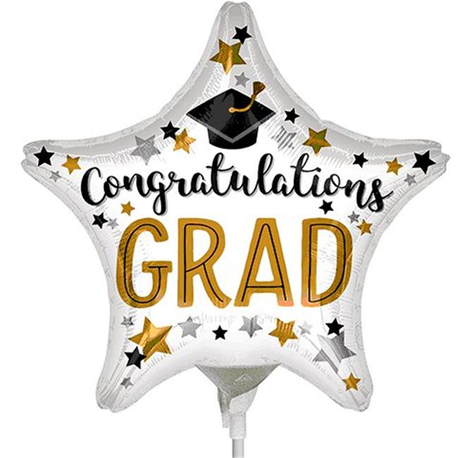 "9"" congratulations grad star balloon"