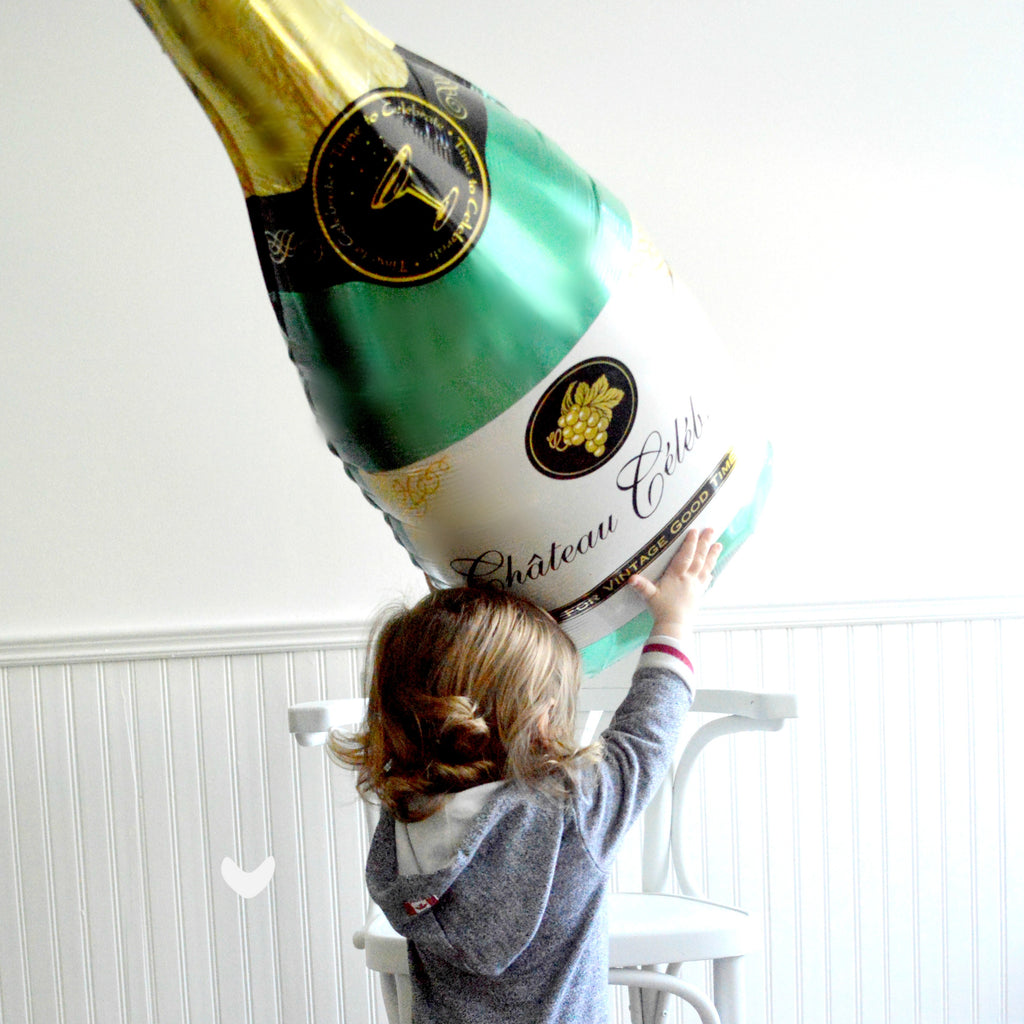 "36"" champagne bottle balloon"