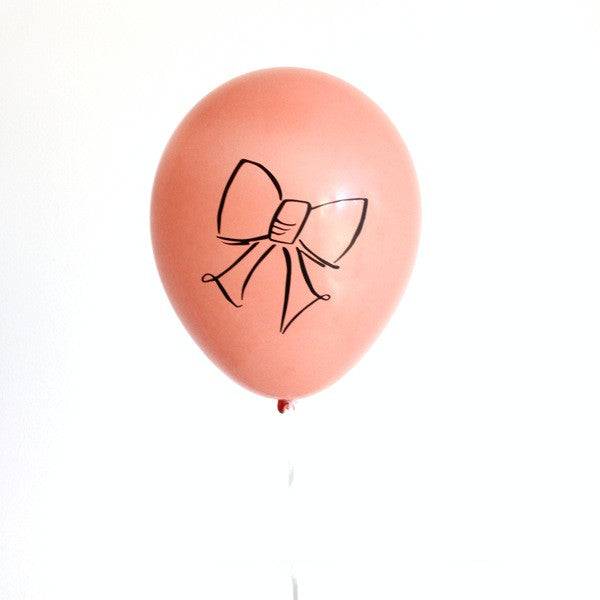 "12"" bow design balloons (set of 3)"