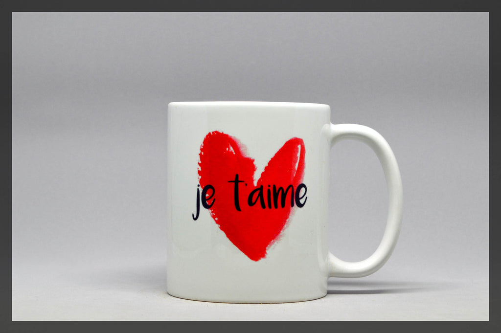 je t'aime french mug