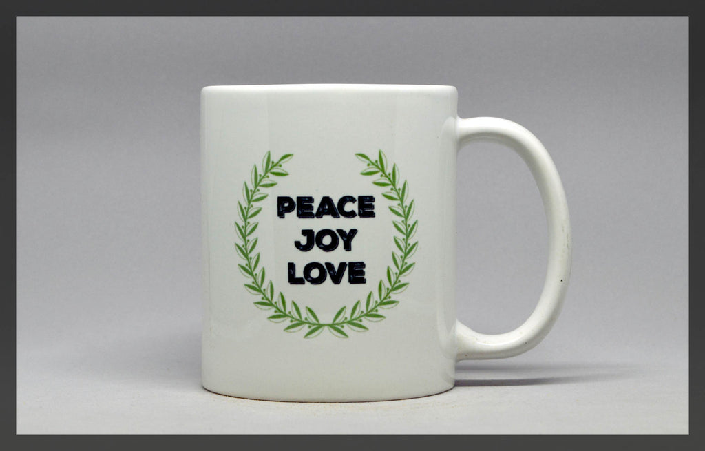 peace love joy mug