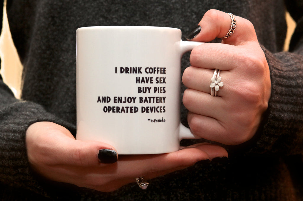 sex & the city miranda quote mug