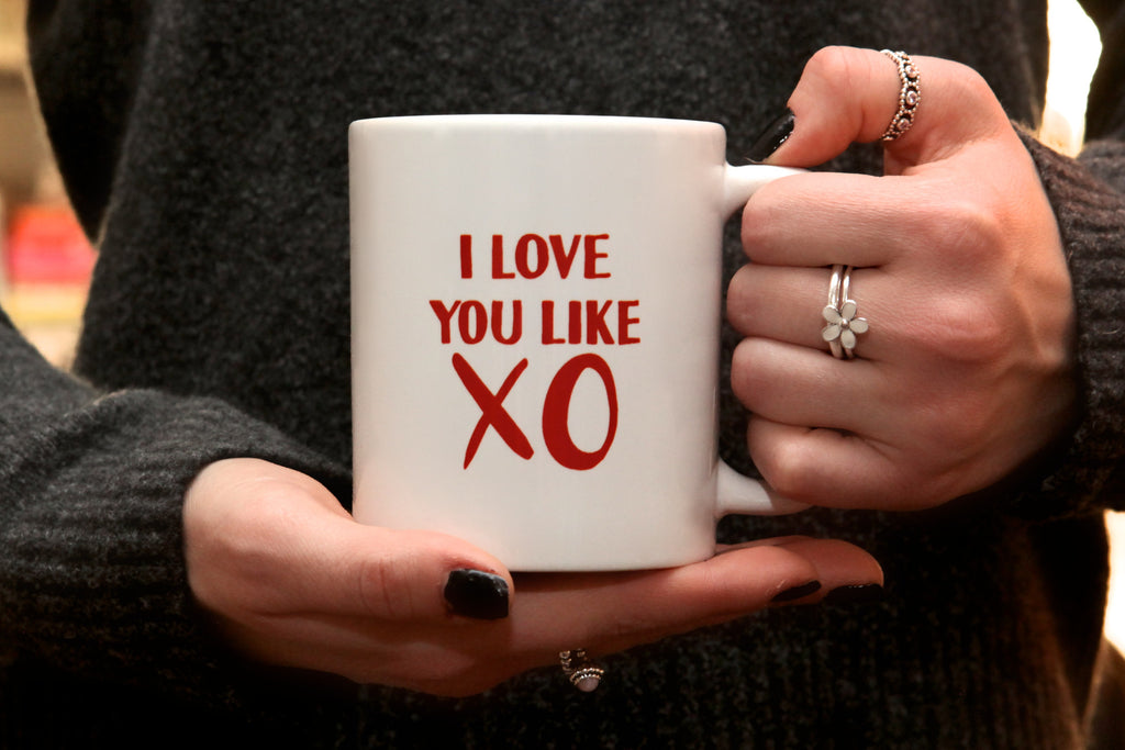 i love you like xo mug