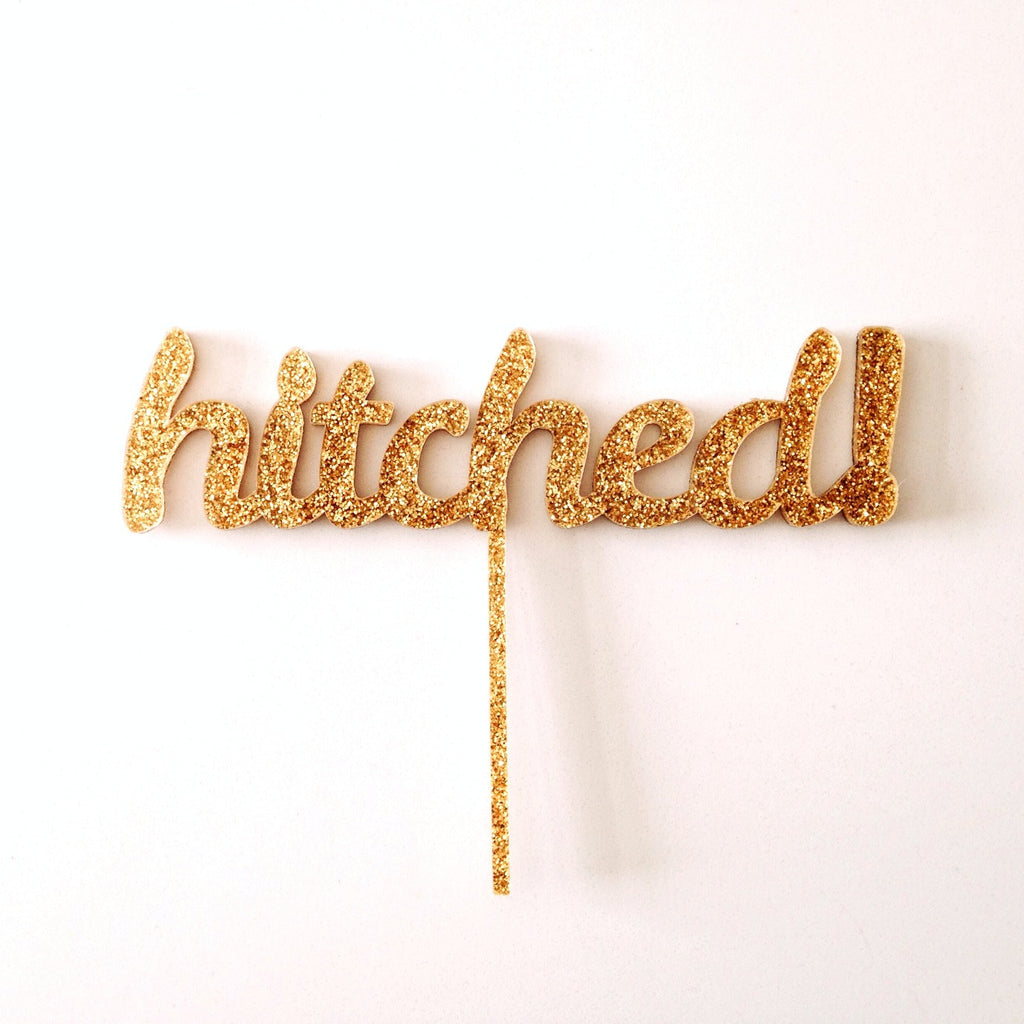 hitched! cake topper