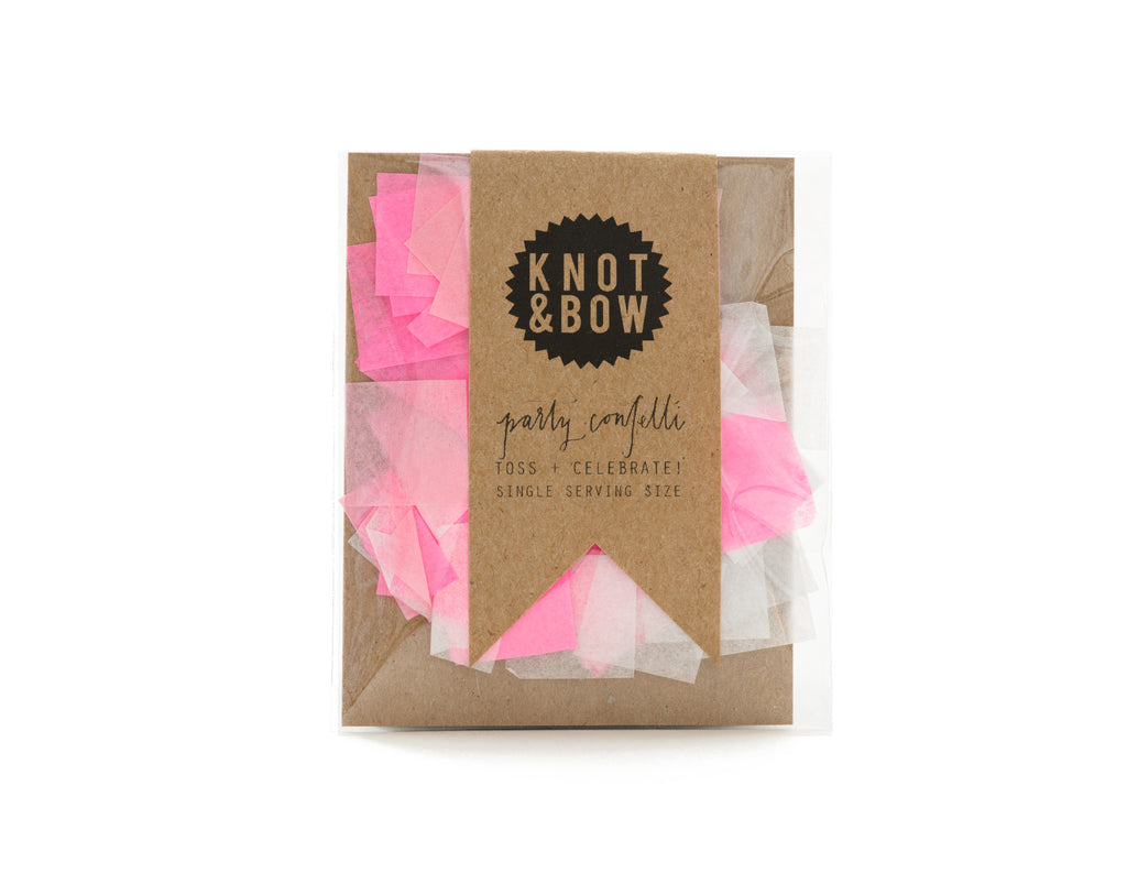 party mix confetti pink