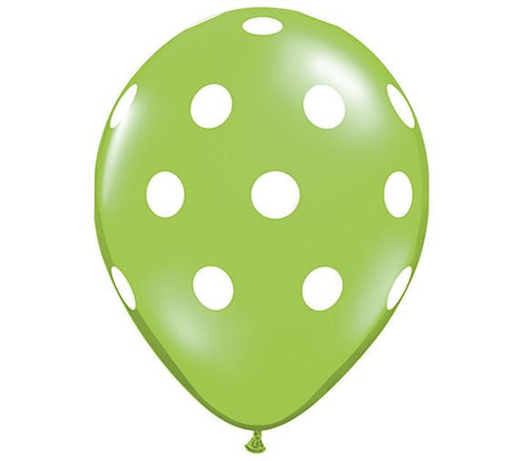 "11"" polka dot latex balloons (set of 10) **premium qualatex"