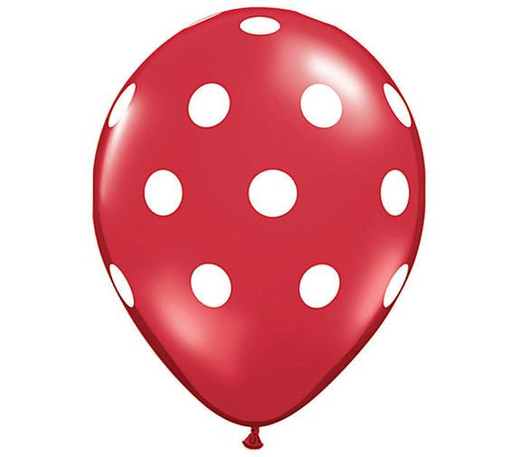 "12"" polka dot latex balloons (set of 10)"