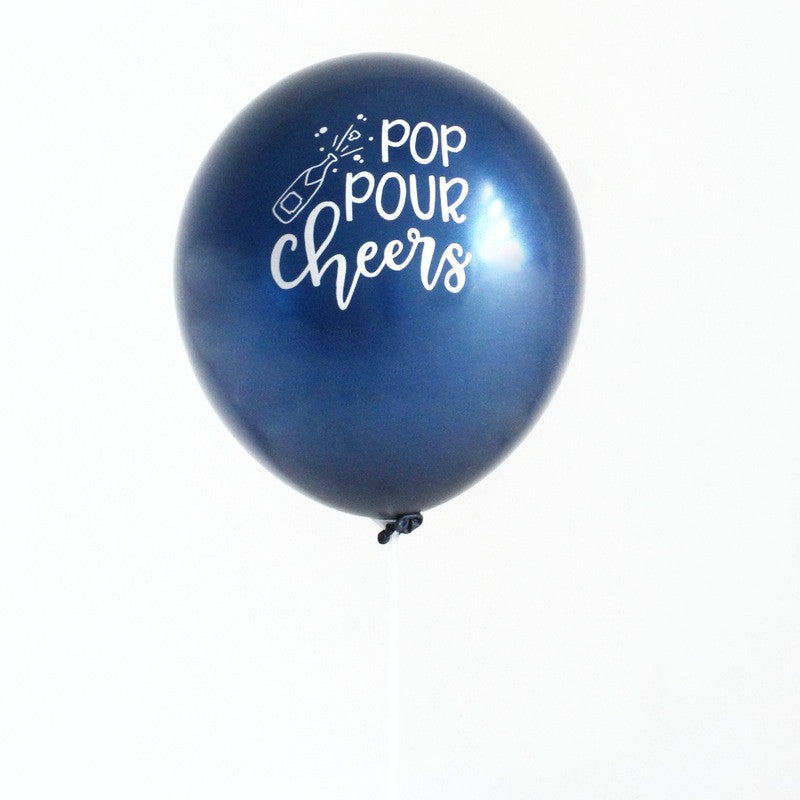 """pop pour cheers"" balloons (set of 3)"