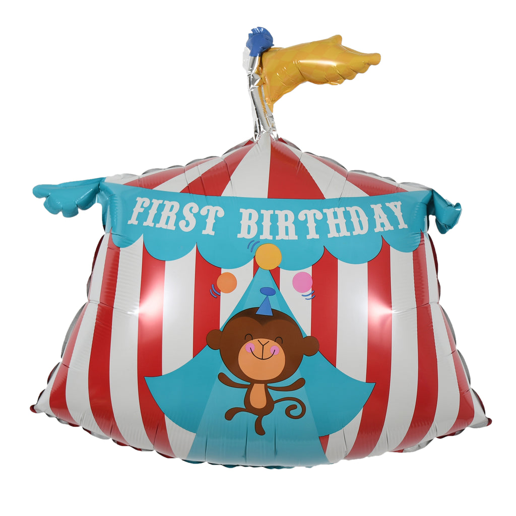 "23"" first birthday circus tent balloon"