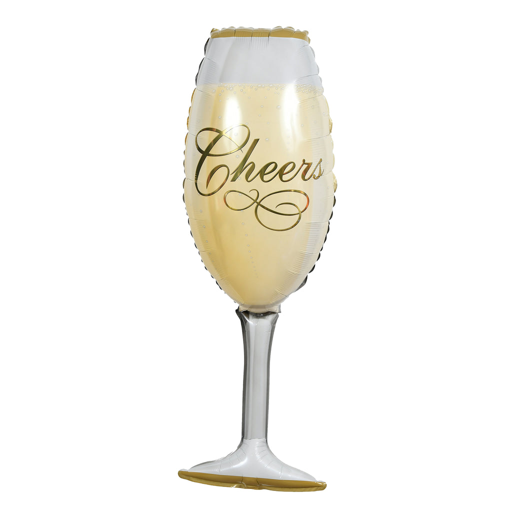 "14"" mini champagne glass balloon"