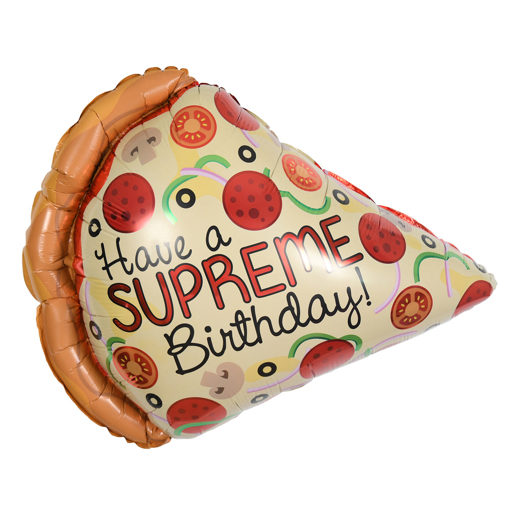 "29"" supreme birthday pizza balloon"