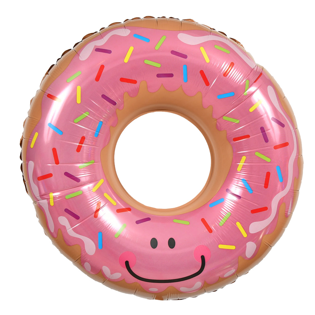 "30"" smiling frosted donut balloon"