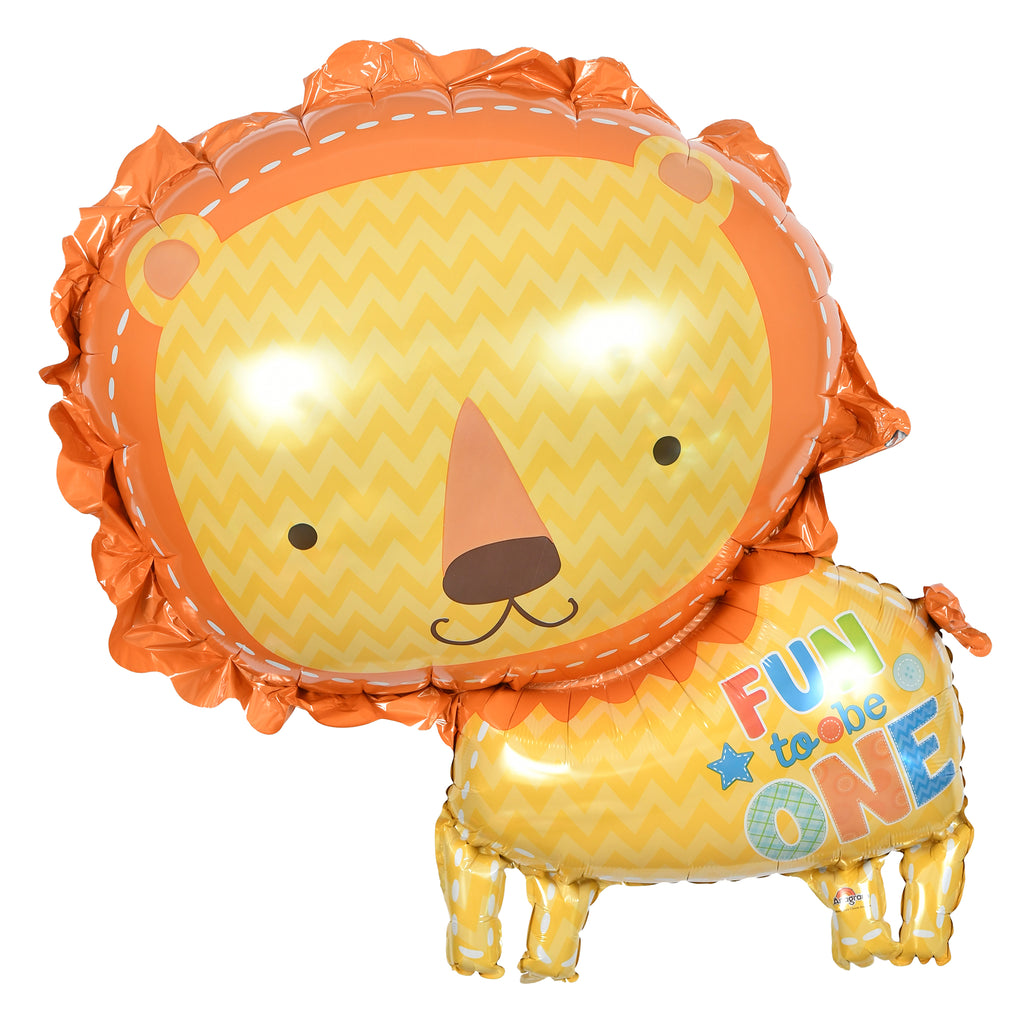 "28"" fun to be one lion balloon"