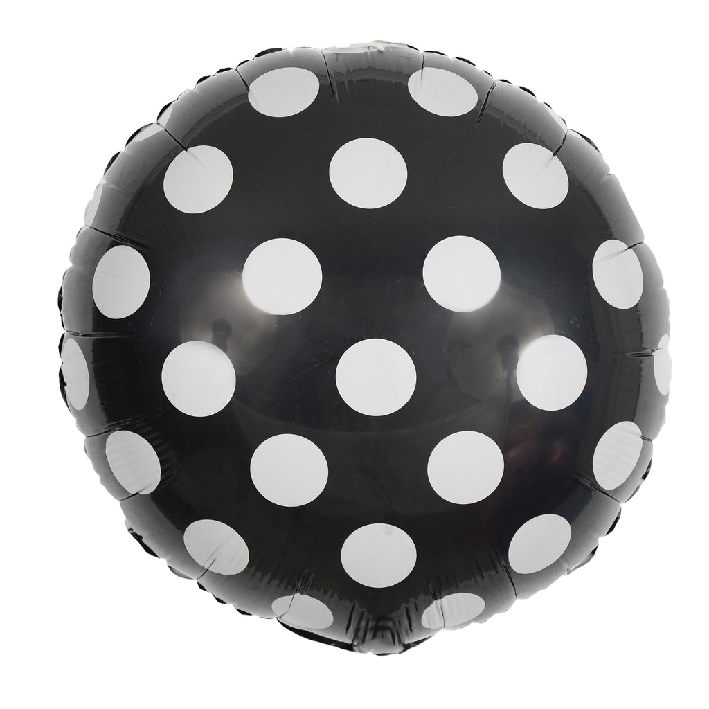 "18"" polka dot mylar balloons (set of 5)"