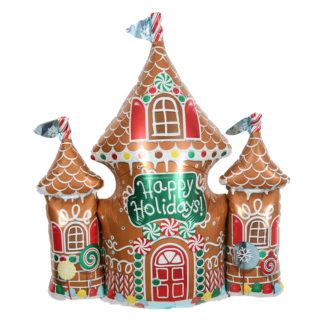 "33"" gingerbread house balloon"