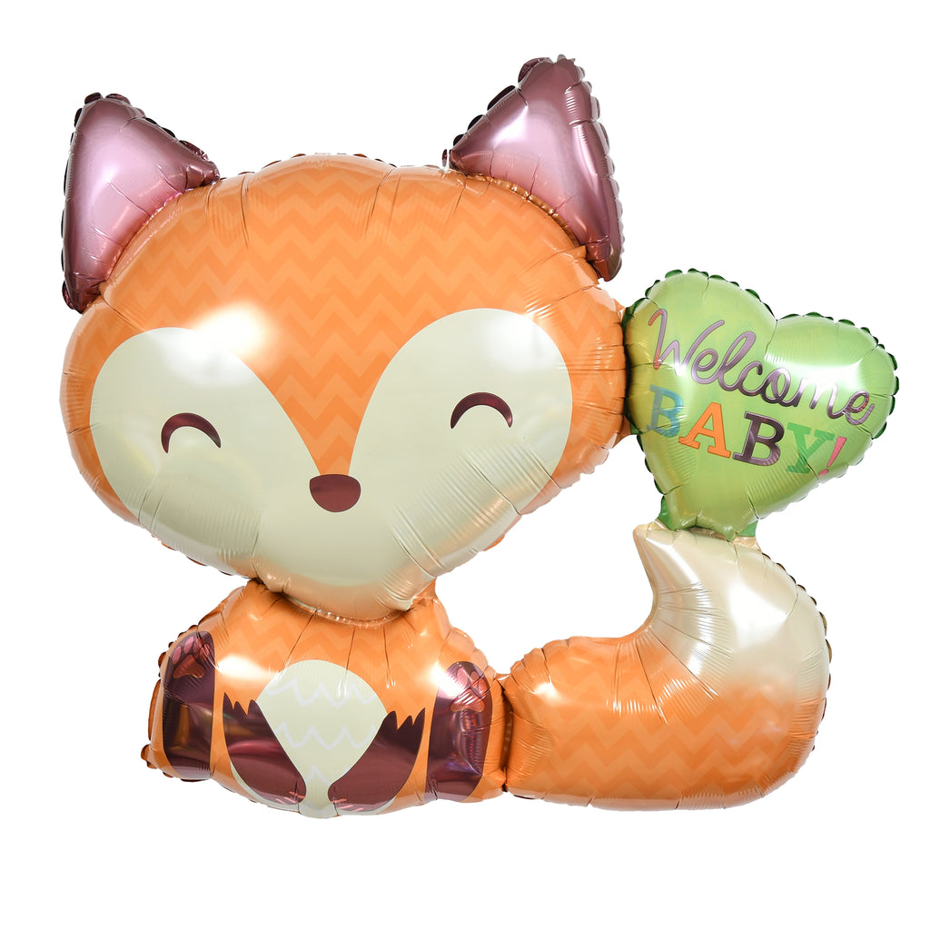 "28"" welcome baby fox balloon"