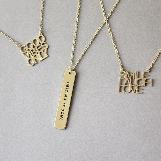 strong & sassy collection necklaces/bracket