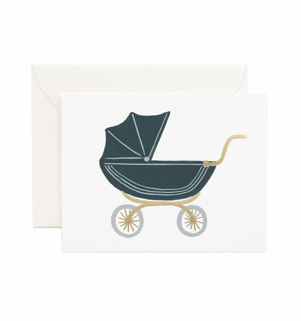 pram baby greeting card