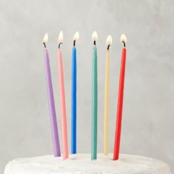 hand dipped tall beeswax candles rainbow