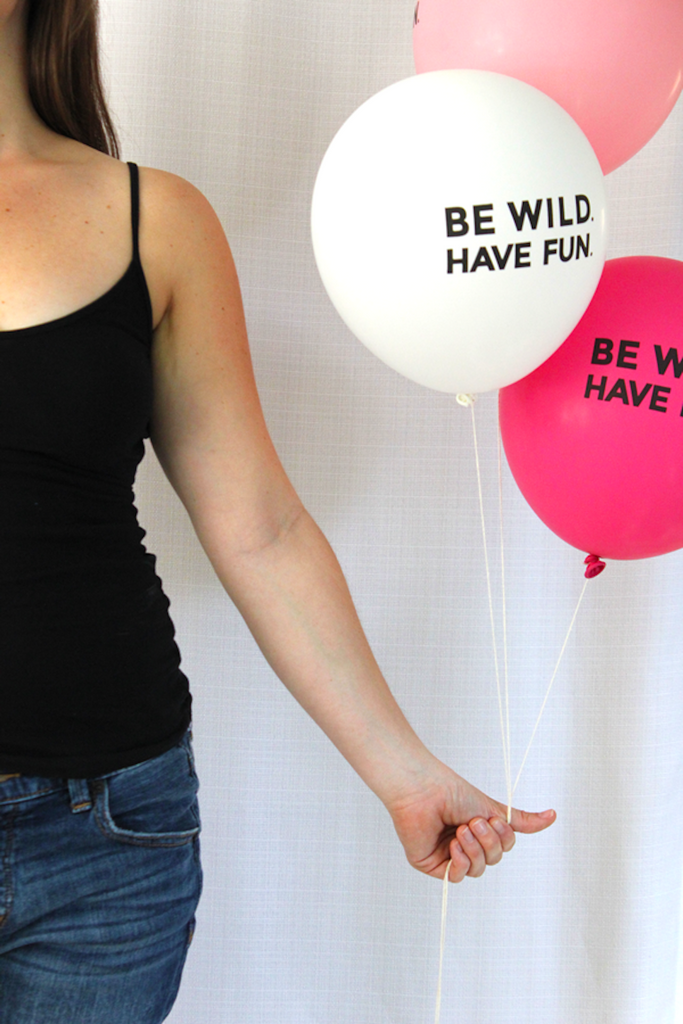 """be wild have fun"" balloons (set of 3)"