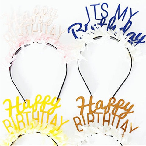 party up top headbands - birthday pack