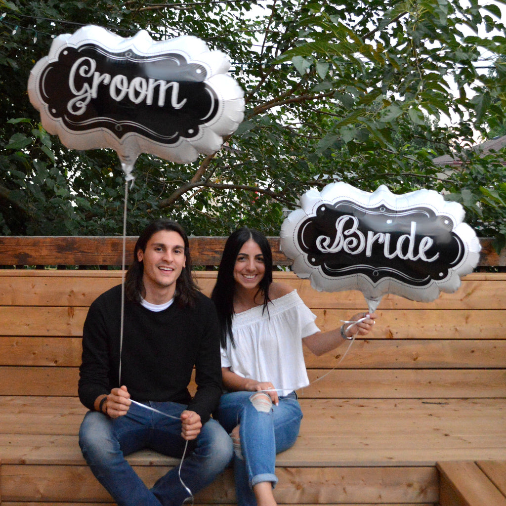 "27"" bride or groom balloon"