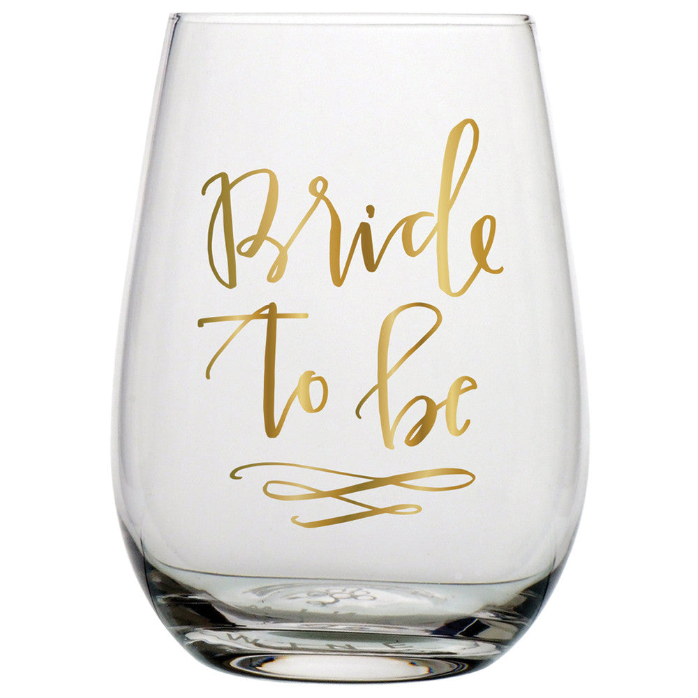 20oz bride to be stemless wine glass