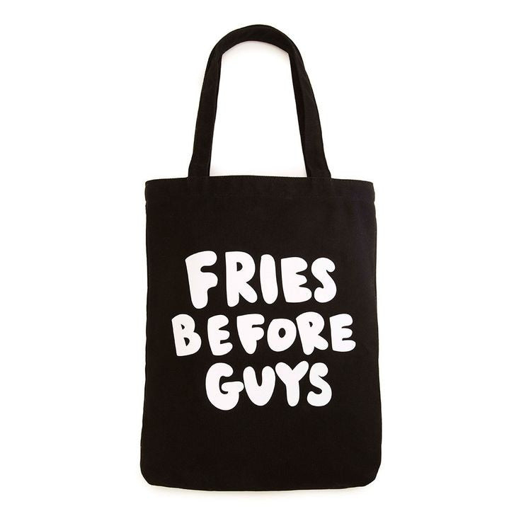 fries before guys canvas tote