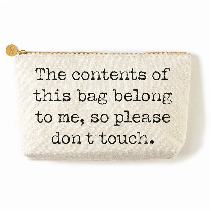 say something zippered everything bags canvas