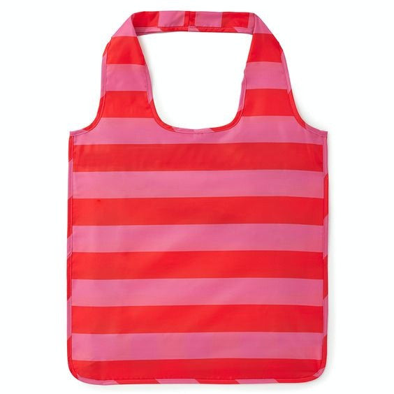 pink stripe reusable shopping tote - kate spade new york