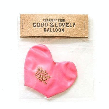 """you're so lovely"" pink heart shaped balloon"