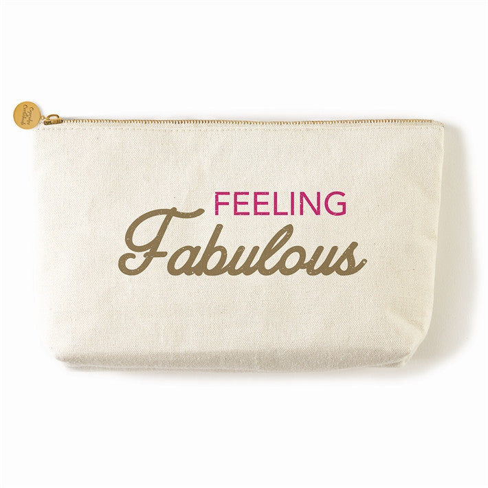 feeling fabulous zippered everything canvas bag