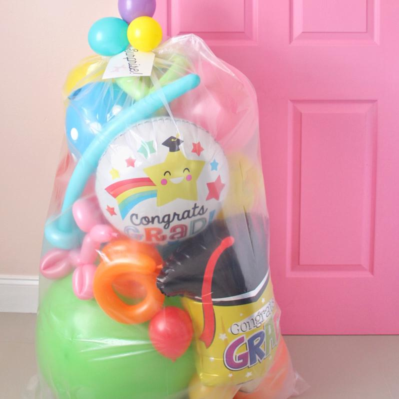 kiddie grad surprise balloon bag - GTA only