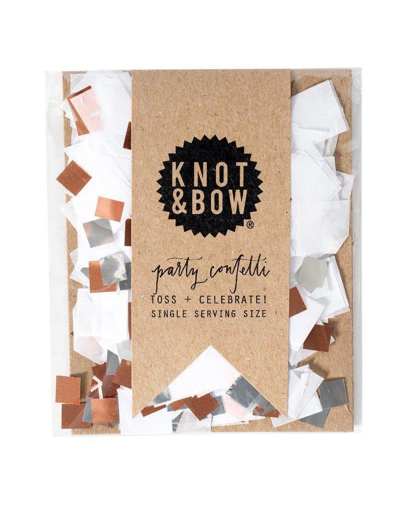 party mix confetti white rosegold + silver