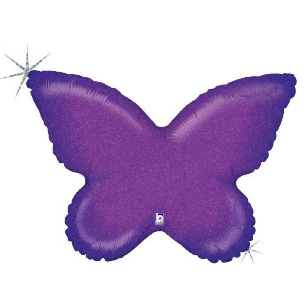 "30"" holographic butterfly balloon"