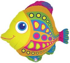 "27"" citrus fish balloon"