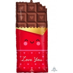 "28"" valentine chocolate bar ""love you"" balloon"